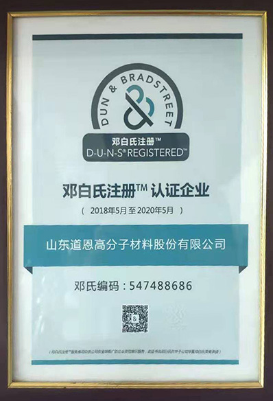 Dun & Bradstreet Registered Certification Enterprise
